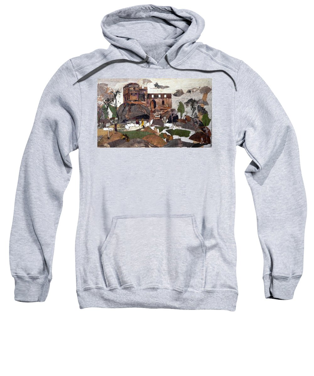 Palace Made By King Madan Shah Sweatshirt featuring the mixed media Madan Mahal by Basant Soni