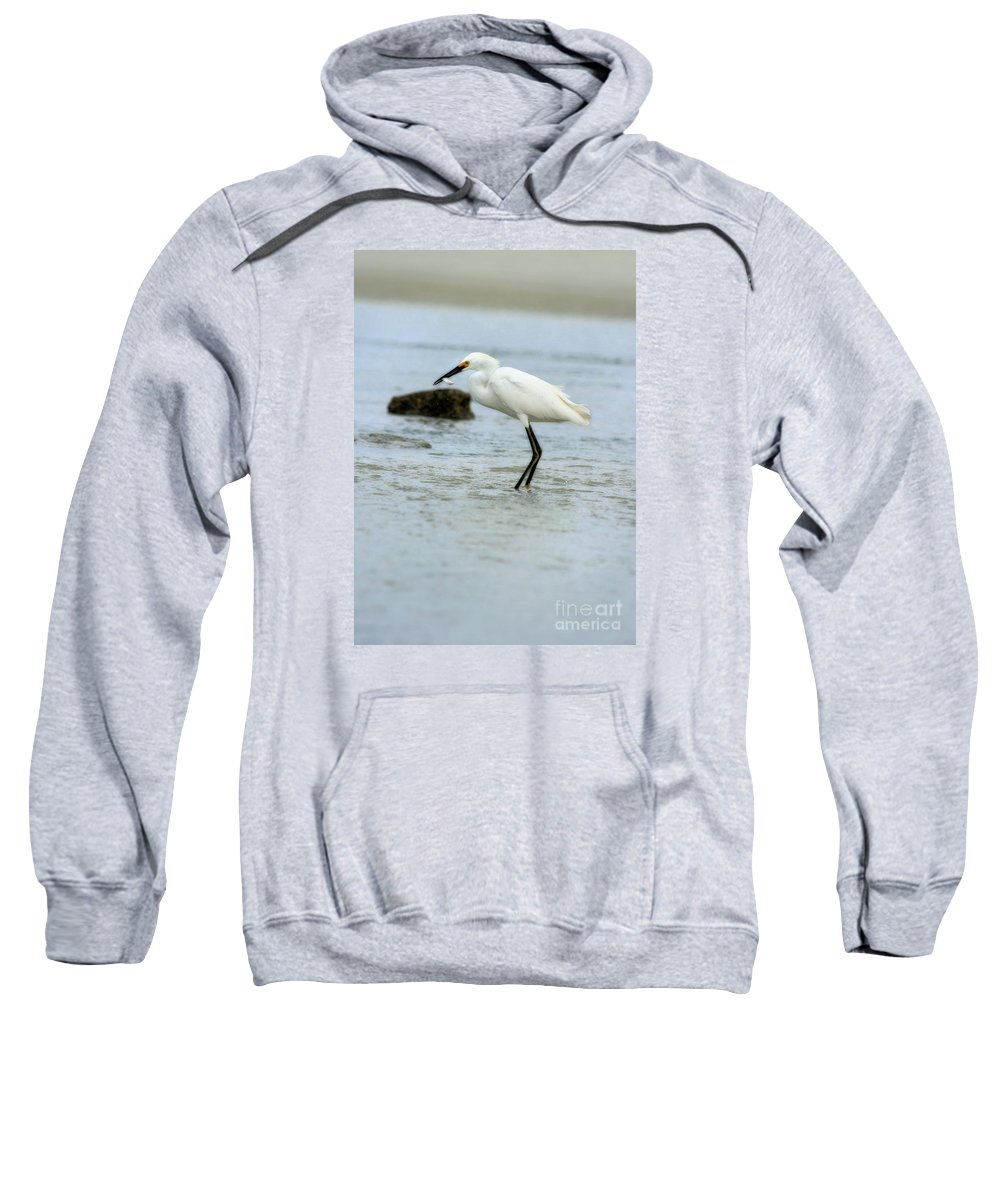 Sweatshirt featuring the photograph Made A Catch 3 by Angela Rath