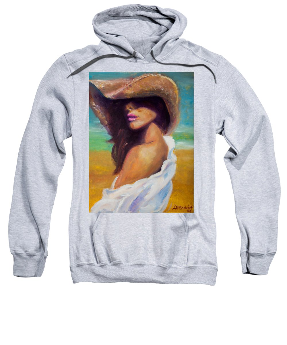 Girl Sweatshirt featuring the painting Made In The Shade by Jason Reinhardt