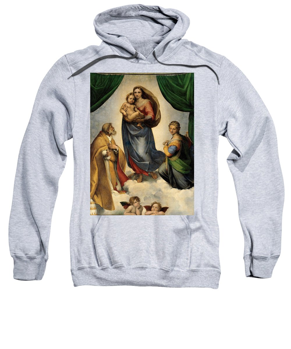 Rafael Madonna Sweatshirt featuring the painting Madonna 1513 by Rafael