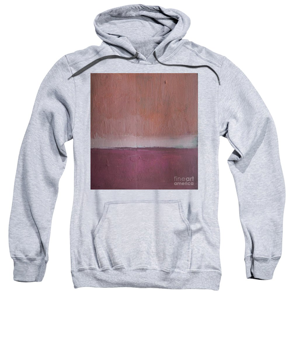 Abstract Sweatshirt featuring the painting Magenta Valley by Vesna Antic