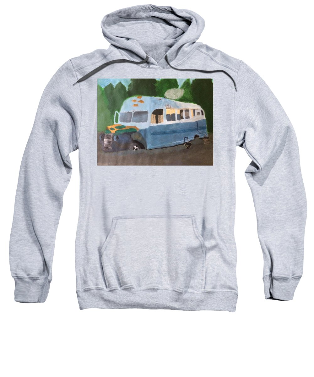 Bus Sweatshirt featuring the painting Magic Bus by Savanah Schafer