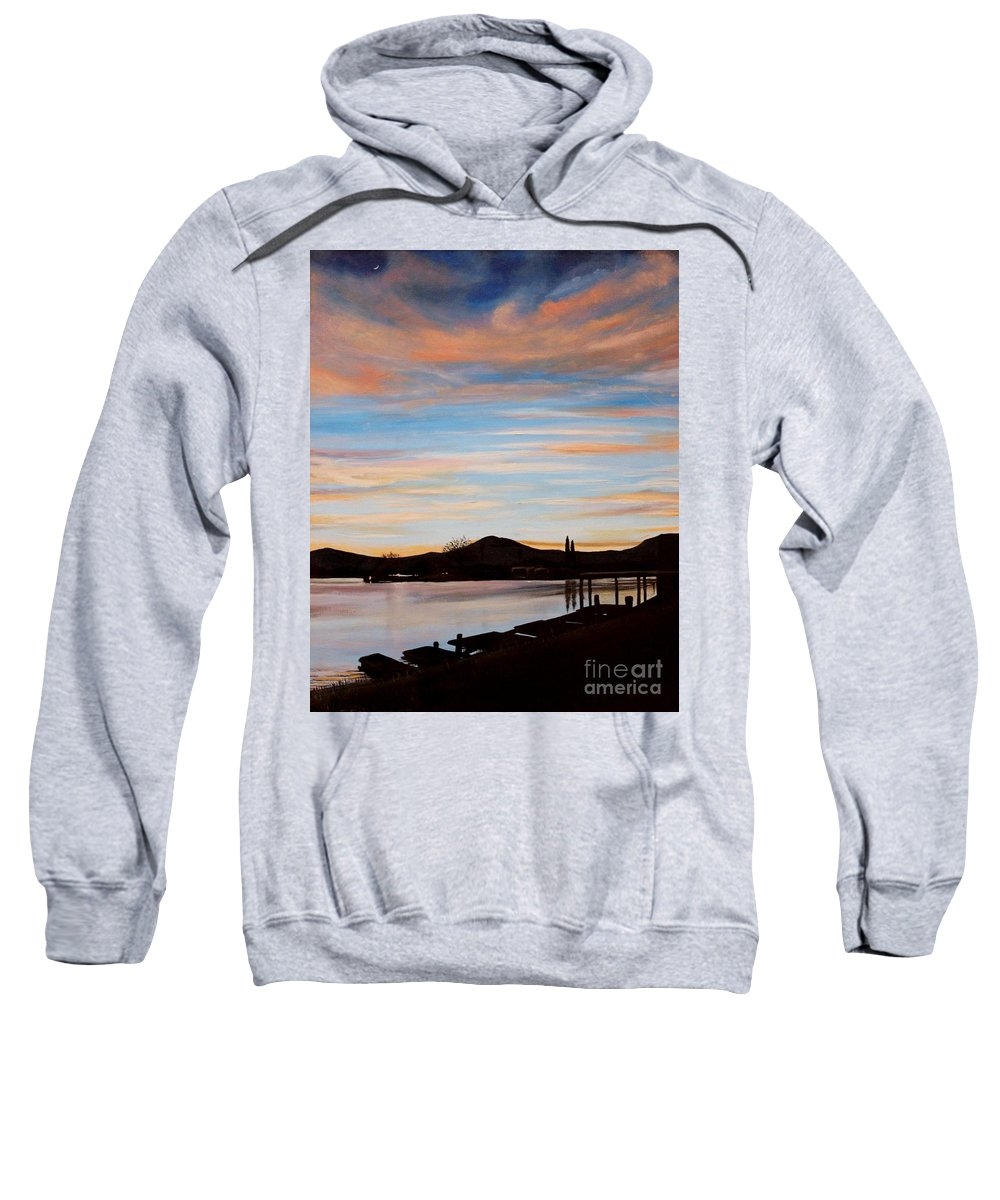Landscape Sweatshirt featuring the painting Magic by Elizabeth Robinette Tyndall