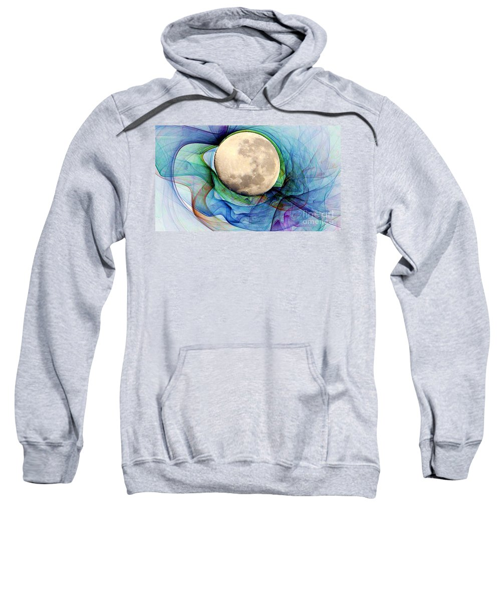 Magnetic Sweatshirt featuring the digital art Magnetic Field by Ron Bissett