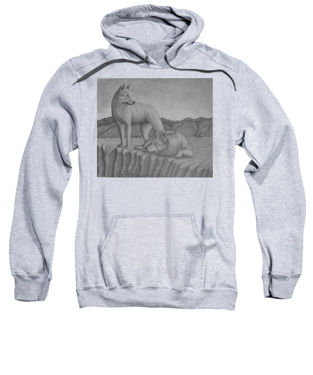 Dog Sweatshirt featuring the drawing Magnificent Dingo by Brian Leverton