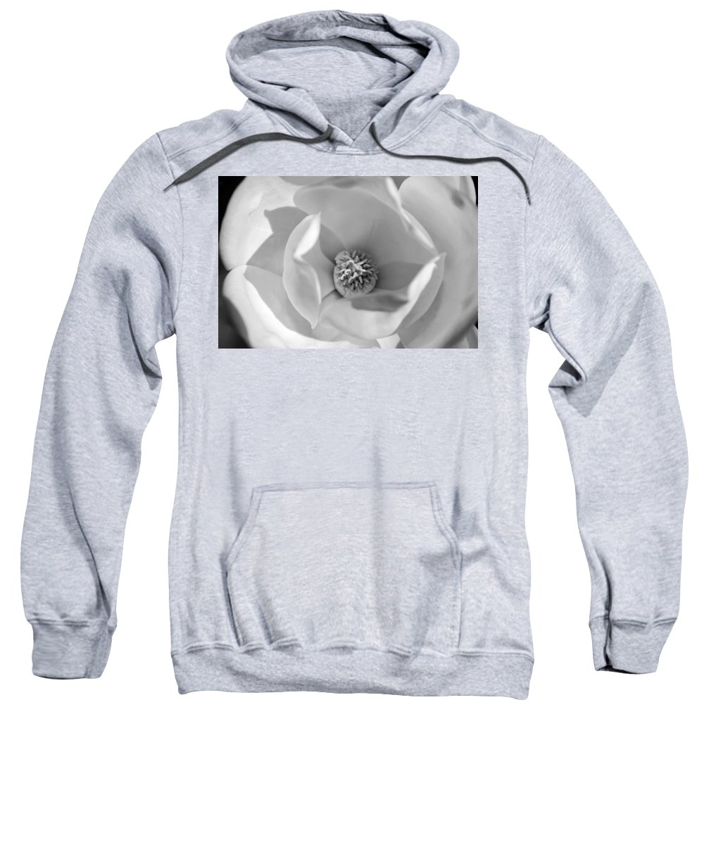 Black And White Sweatshirt featuring the photograph Magnolia Black And White by Jill Reger