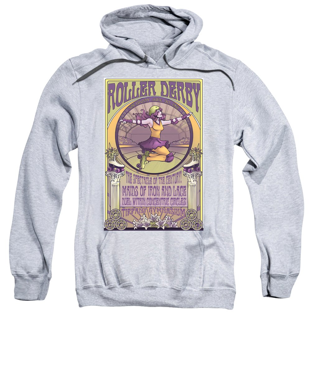 Roller Derby Sweatshirt featuring the digital art Maids Of Iron And Lace by Dani Kaulakis