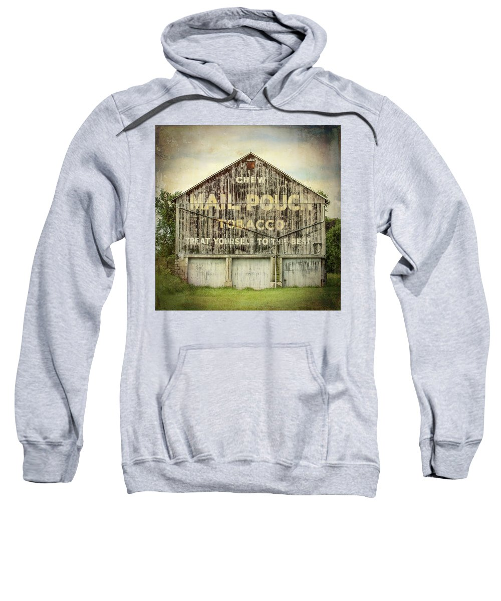 Barns Sweatshirt featuring the photograph Mail Pouch Barn - Us 30 #7 by Stephen Stookey