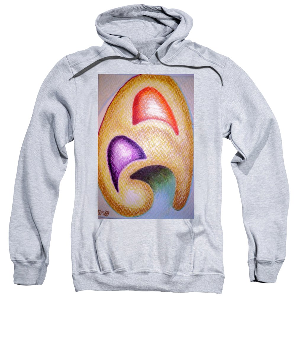 Abstract Sweatshirt featuring the drawing Mailed to You by Suzanne Udell Levinger
