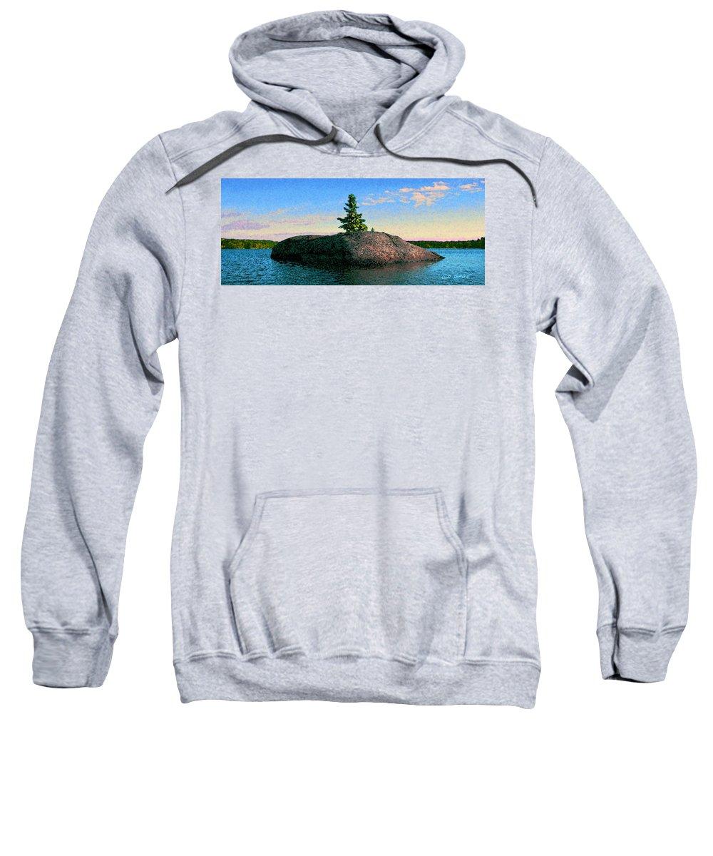 Maine Sweatshirt featuring the photograph Maine Stone Island Sunrise by Ed A Gage