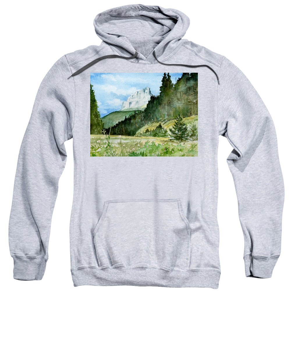 Landscape Sweatshirt featuring the painting Majestic by Brenda Owen