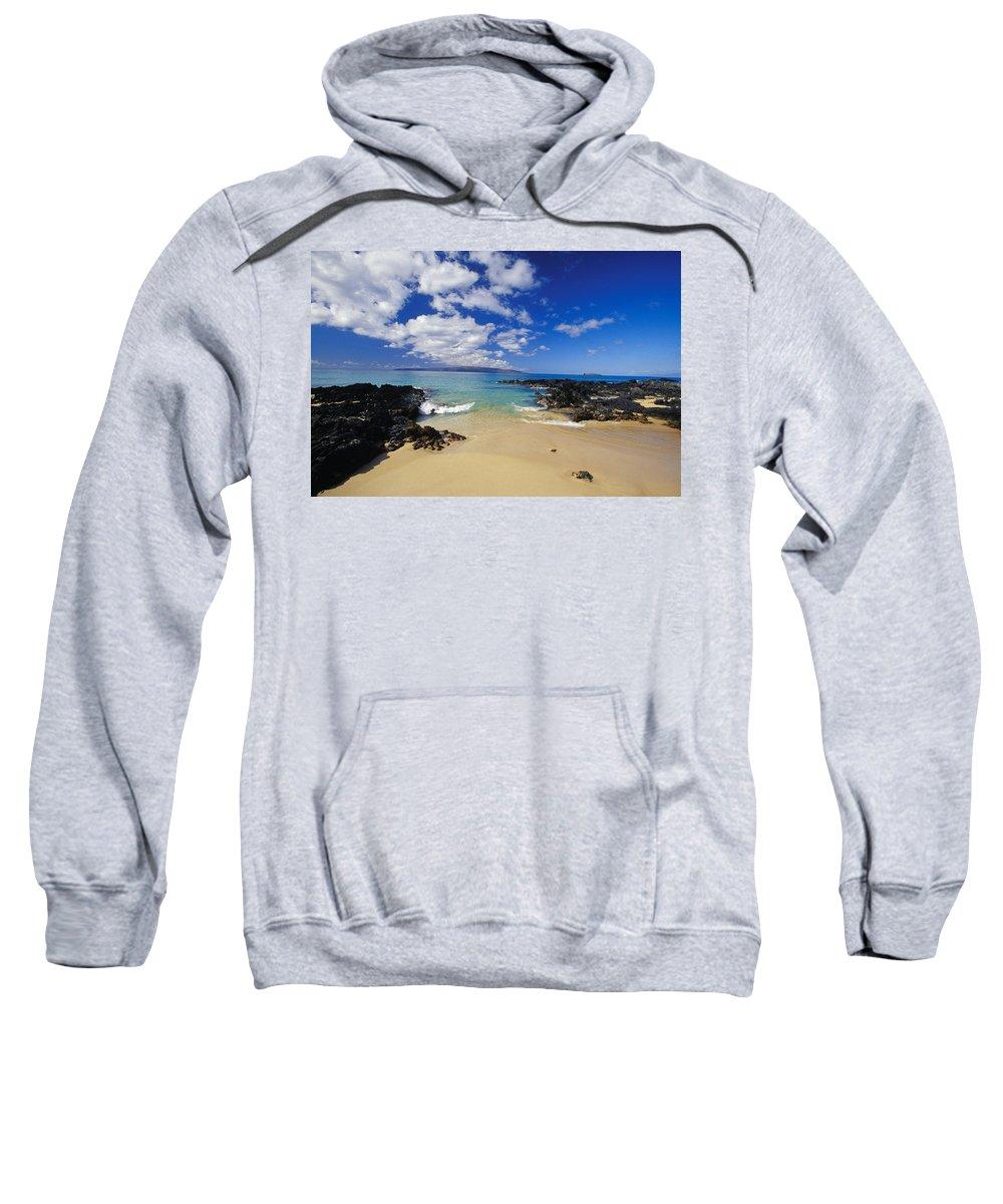 Beach Sweatshirt featuring the photograph Makena, Secret Beach by Ron Dahlquist - Printscapes