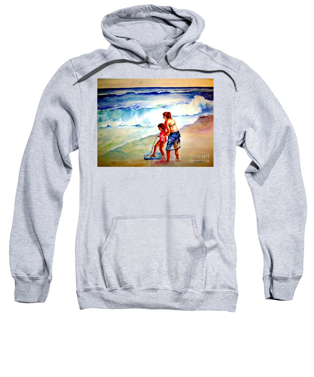Beach Surf Sweatshirt featuring the painting Making A Memory by Sandy Ryan