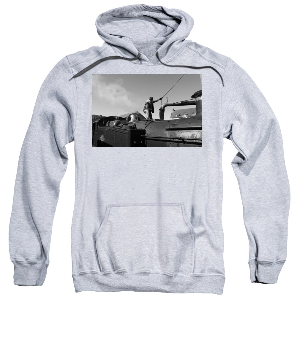 Steam Sweatshirt featuring the photograph Making Steam 2 by Lauri Novak