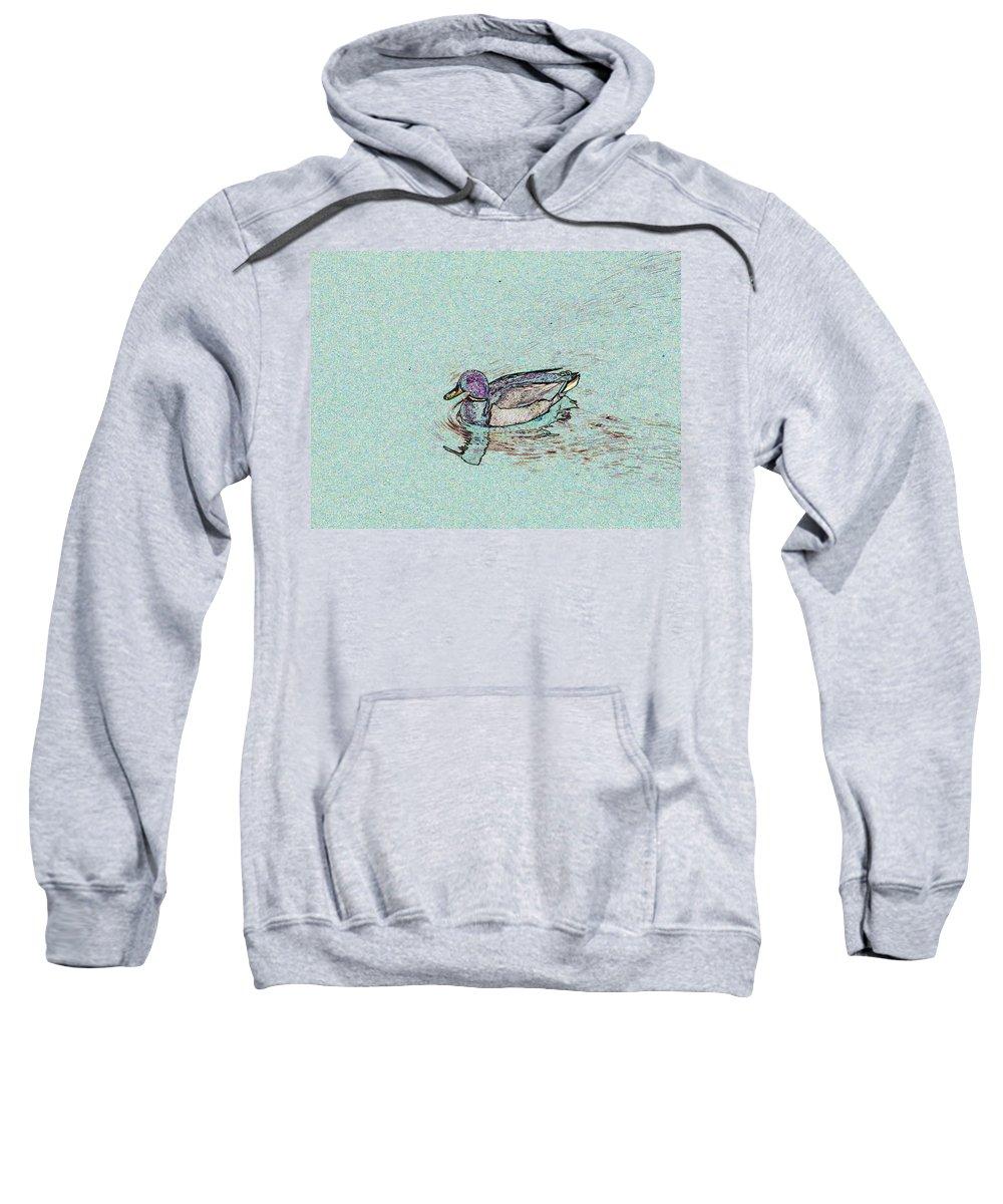Mallard Sweatshirt featuring the photograph Mallards Edge by Tim Allen