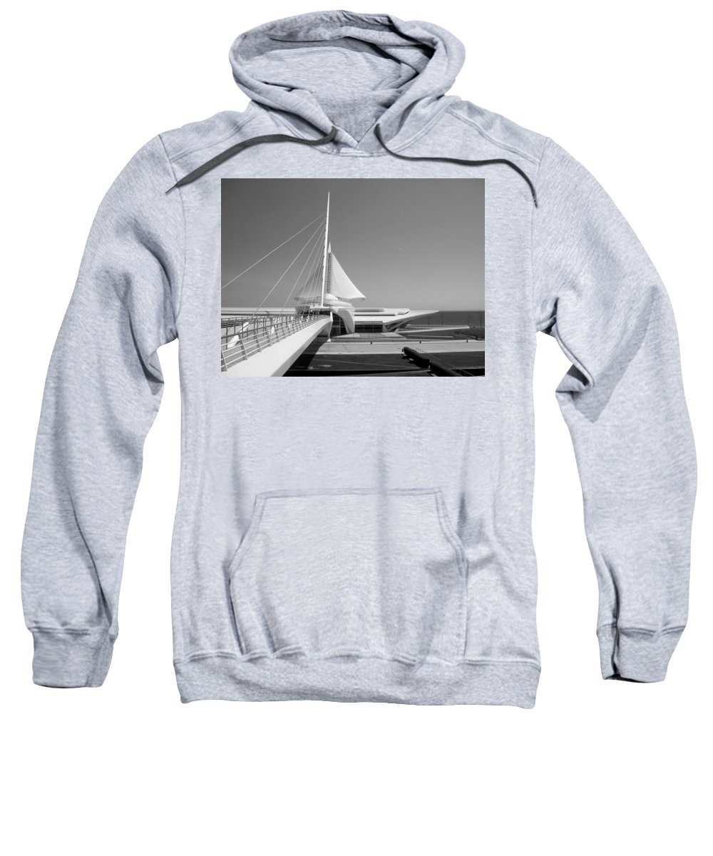 Mam Sweatshirt featuring the photograph Mam Spreading Wings B-w by Anita Burgermeister