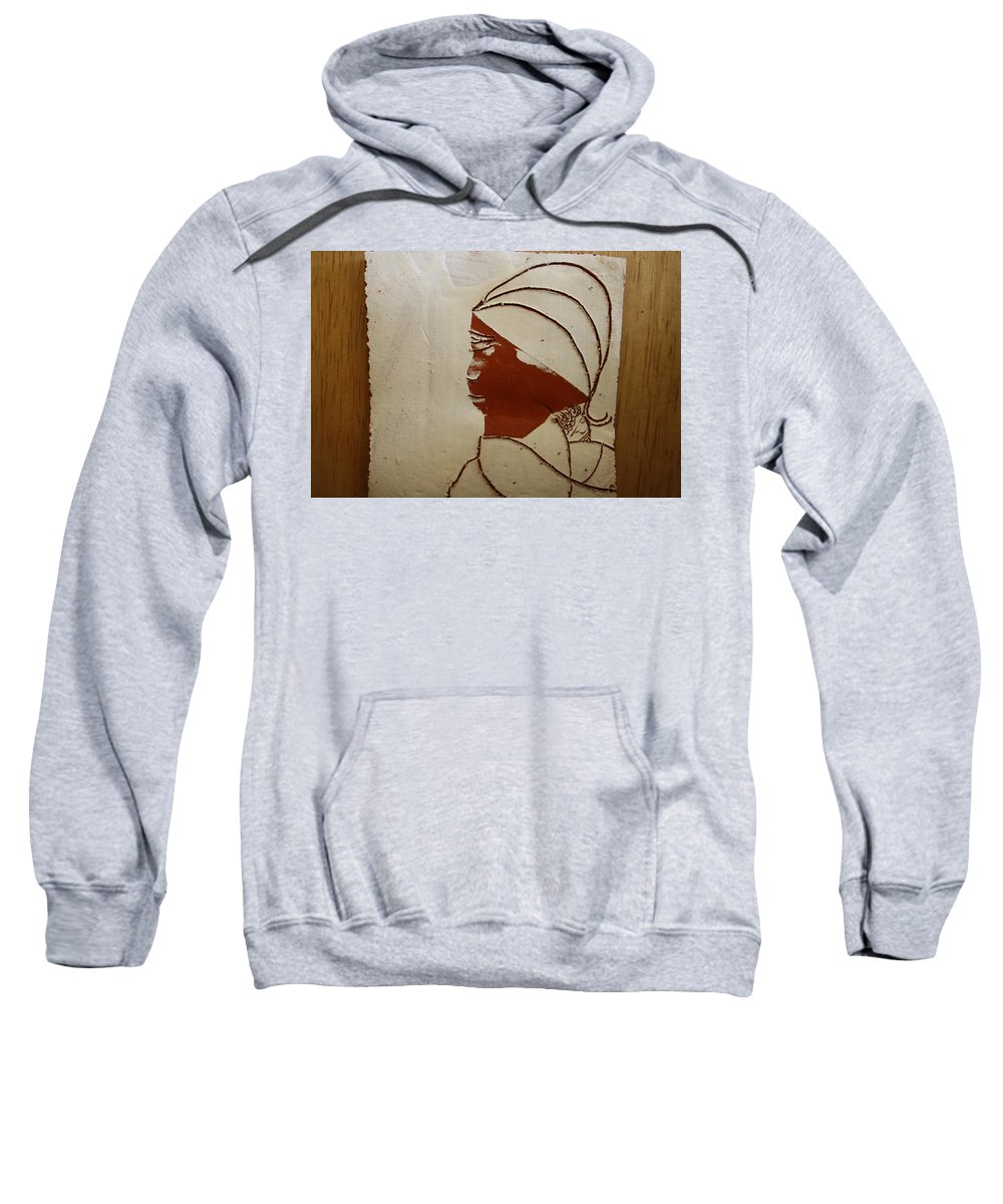 Jesus Sweatshirt featuring the ceramic art Mama 4 - Tile by Gloria Ssali
