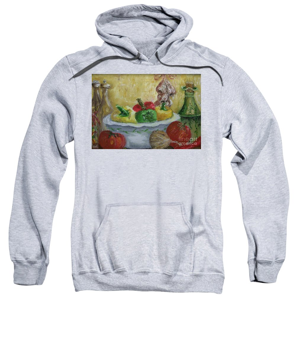 Still Life Sweatshirt featuring the painting Mama by Stephen King