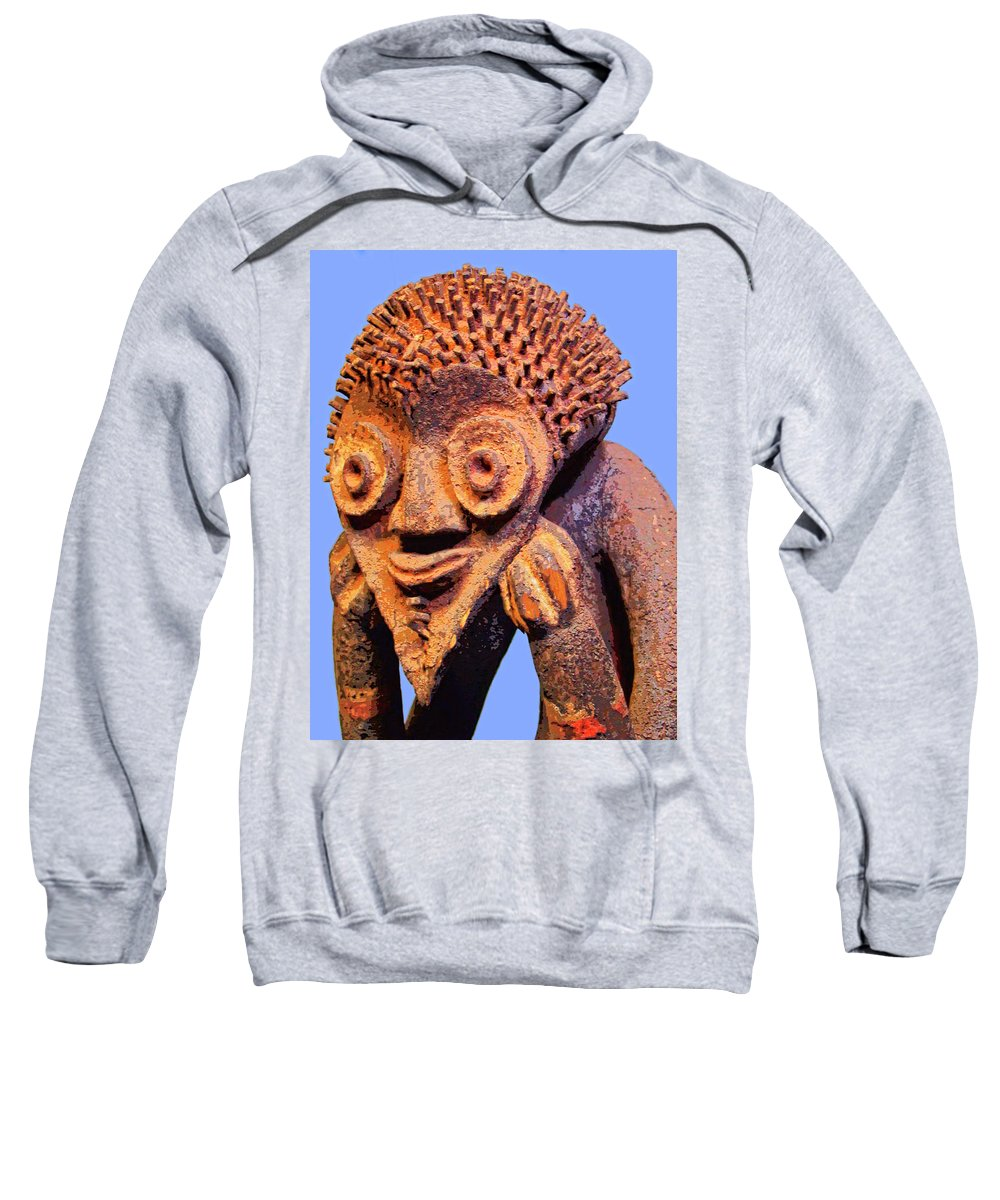 Africa Sweatshirt featuring the mixed media Mambila Figure by Dominic Piperata
