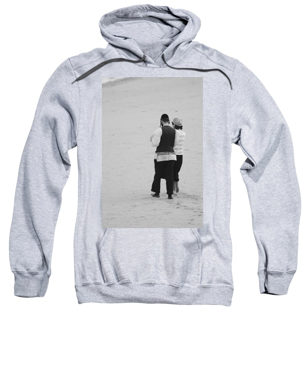 Black And White Sweatshirt featuring the photograph Man And Woman by Rob Hans