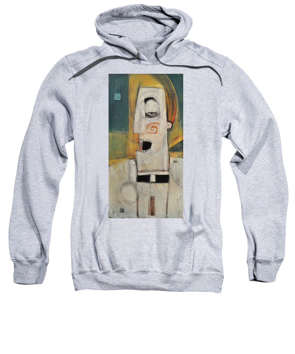 Pastor Sweatshirt featuring the painting Man Of The Cloth by Tim Nyberg