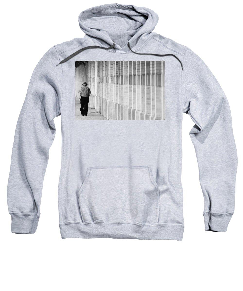 City Sweatshirt featuring the photograph Man Walking by Jill Reger