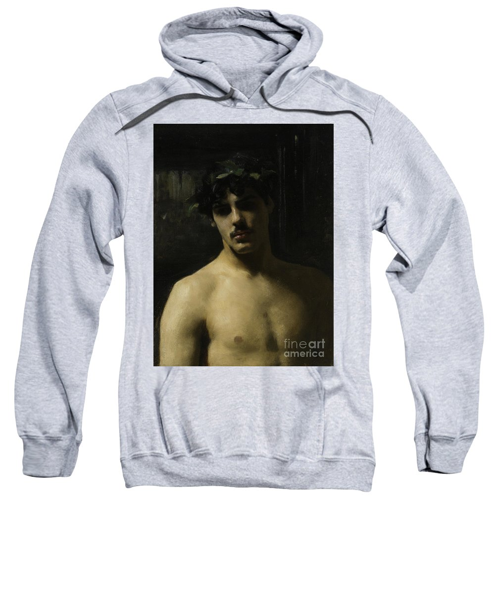 Laurel Sweatshirt featuring the painting Man Wearing Laurels by John Singer Sargent
