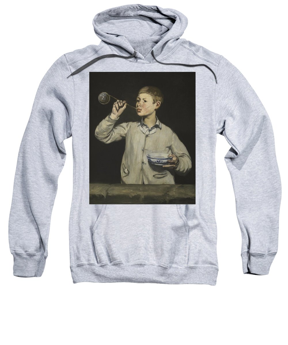 Manet-exhibition-key-020 Sweatshirt featuring the painting Manet Exhibition by MotionAge Designs