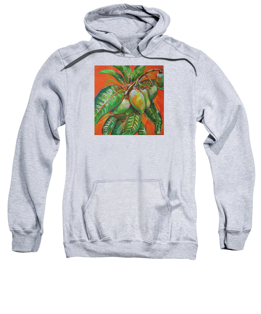 Mango Sweatshirt featuring the painting Mango by Sanae Yamada