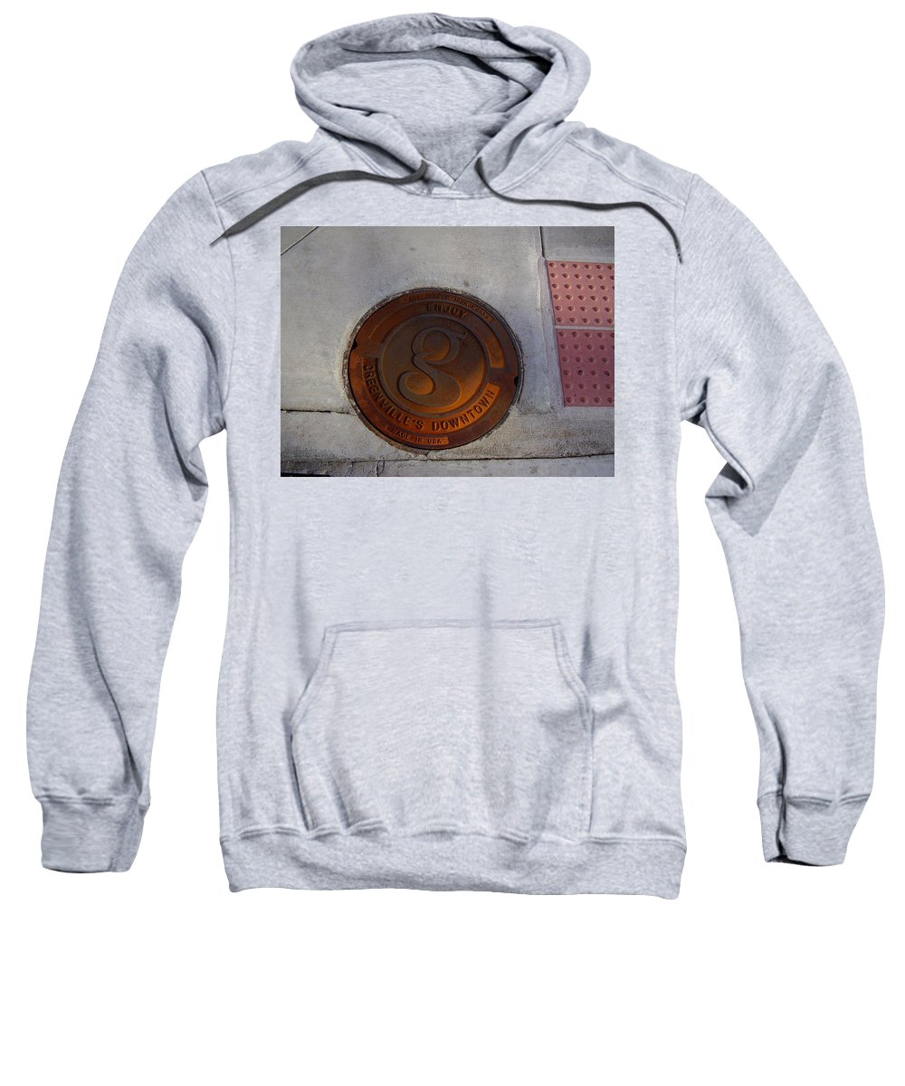 Manhole Sweatshirt featuring the photograph Manhole I by Flavia Westerwelle