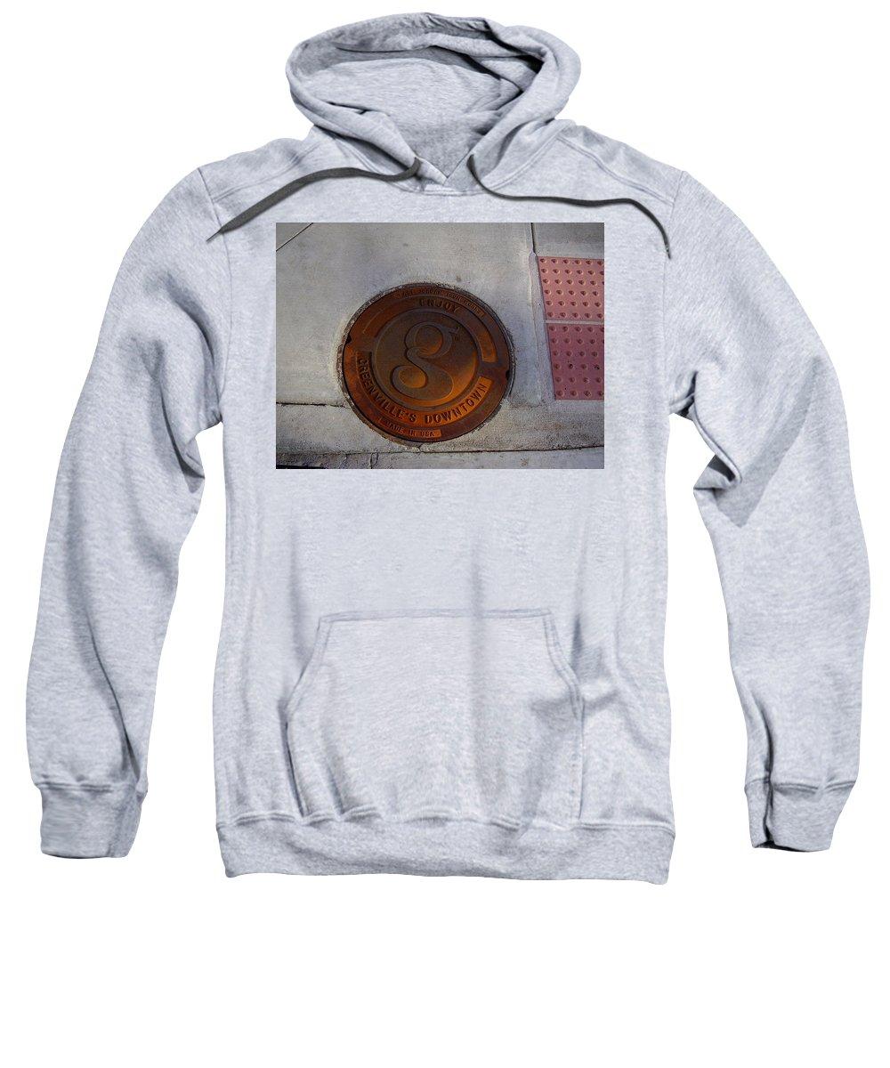 Manhole Sweatshirt featuring the photograph Manhole I by Flavia Westerwelle