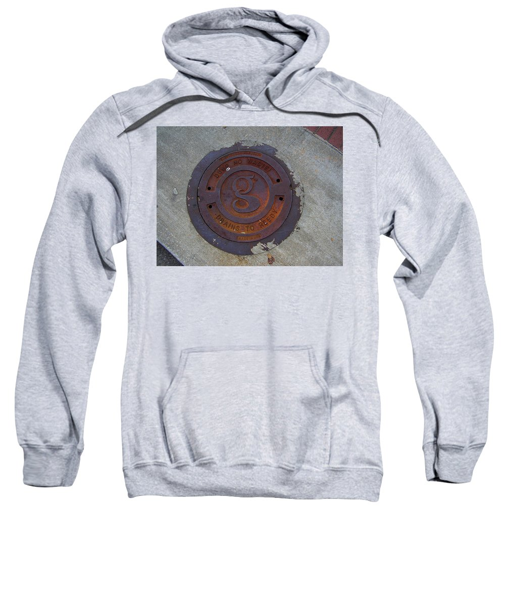 Manhole Sweatshirt featuring the photograph Manhole IIi by Flavia Westerwelle