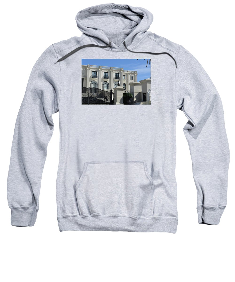 Mansion Sweatshirt featuring the photograph Mansion At The Beach by Edgar Soto