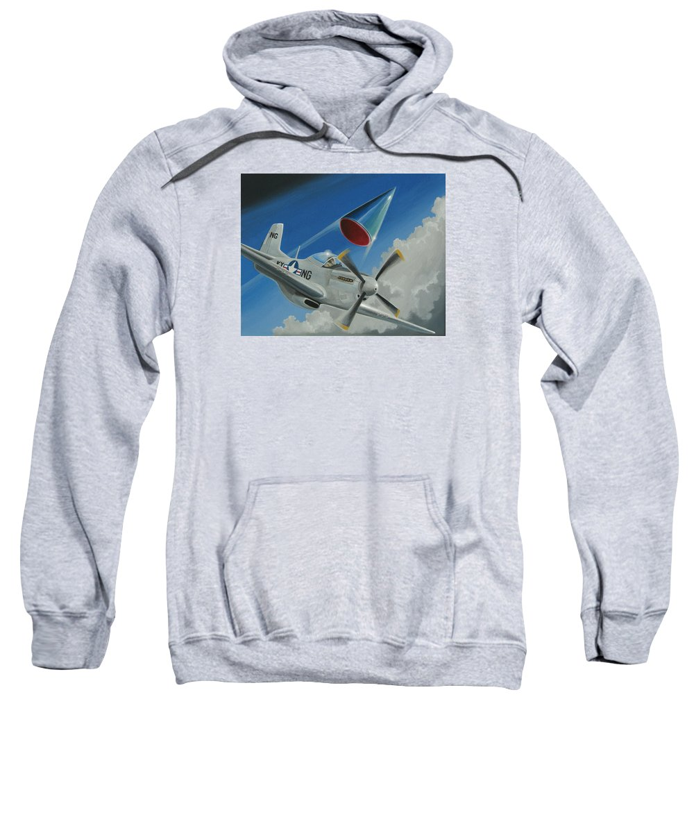 Ufo Sweatshirt featuring the painting Mantell Incident by Stuart Swartz