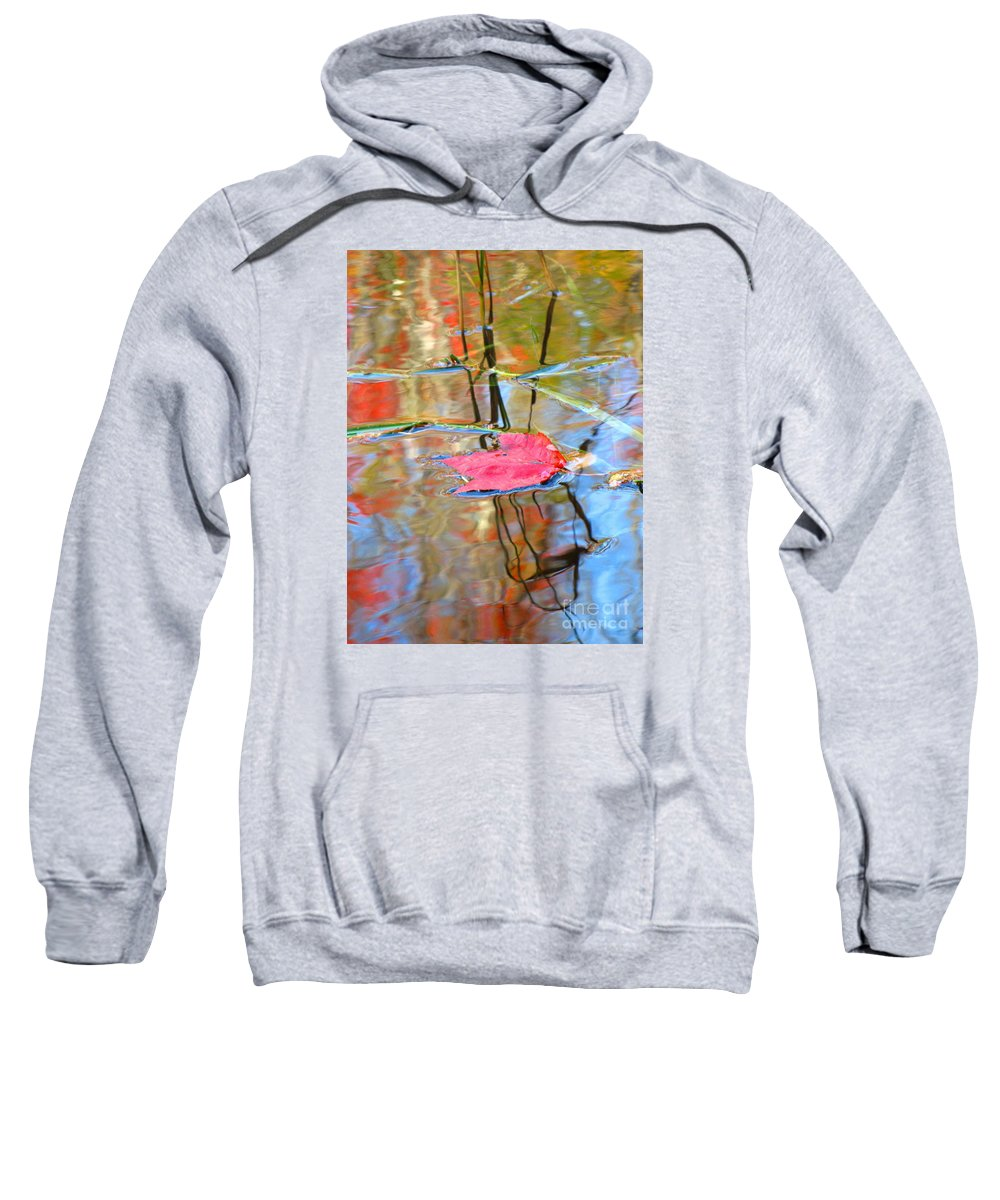 Abstract Sweatshirt featuring the photograph I Am Here In The Changing Waters by Sybil Staples