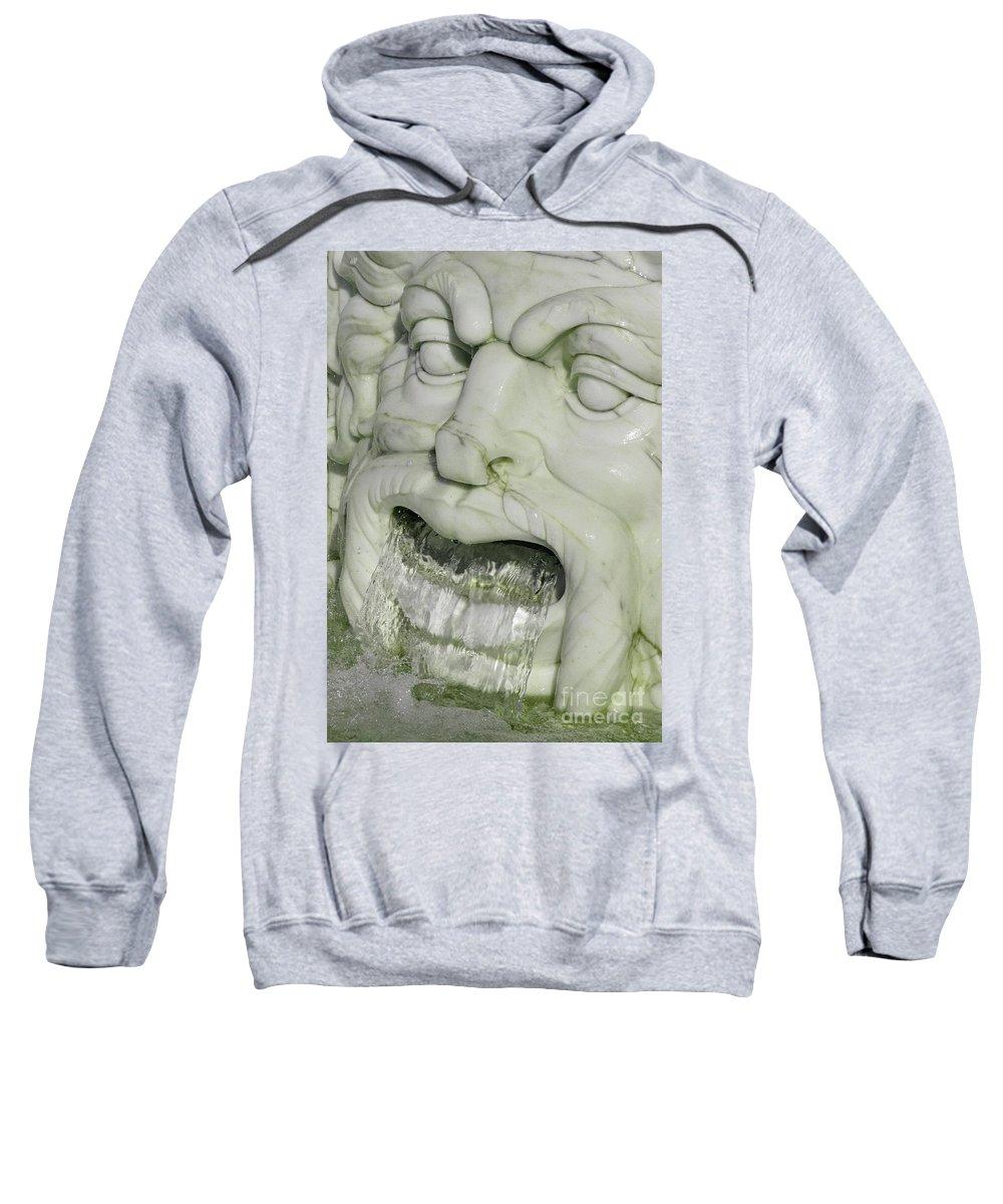 Fountain Sweatshirt featuring the photograph Marble Head by Ann Horn