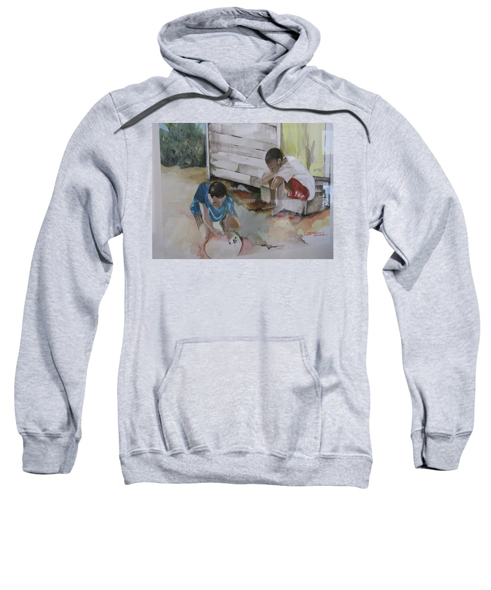 Bahamas Sweatshirt featuring the painting Marbles by Donna Steward