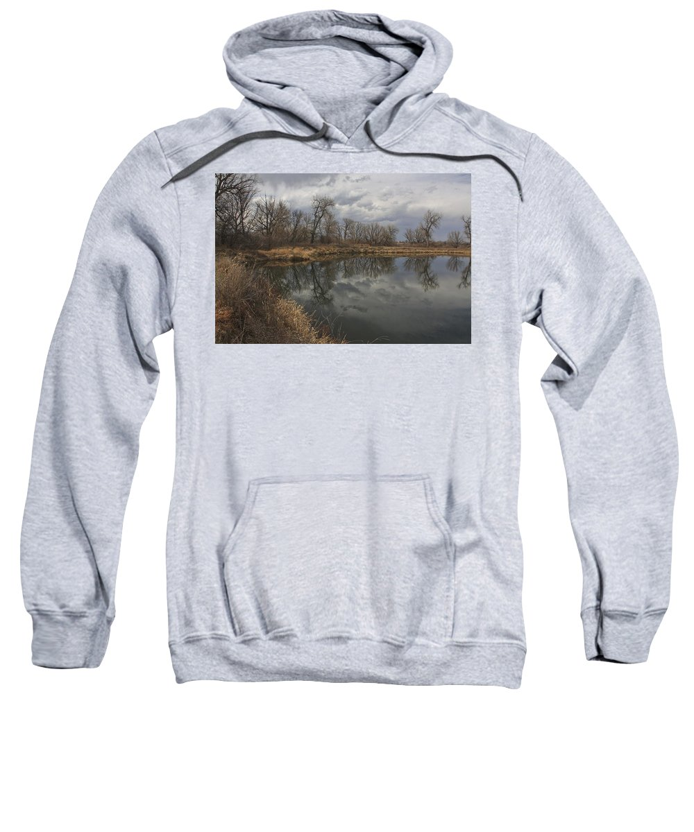 Boulder Sweatshirt featuring the photograph March In Boulder, Colorado by Chris Oh