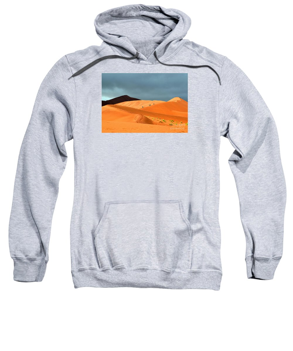 Africa Sweatshirt featuring the photograph Marching On Sossusvlei Dunes by Rossano Ossi