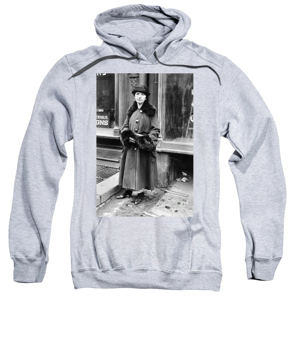 1916 Sweatshirt featuring the photograph Margaret Sanger by Granger