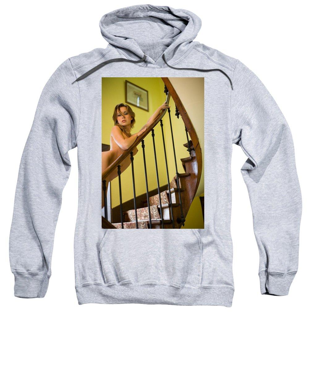 Sensual Sweatshirt featuring the photograph Marie by Olivier De Rycke