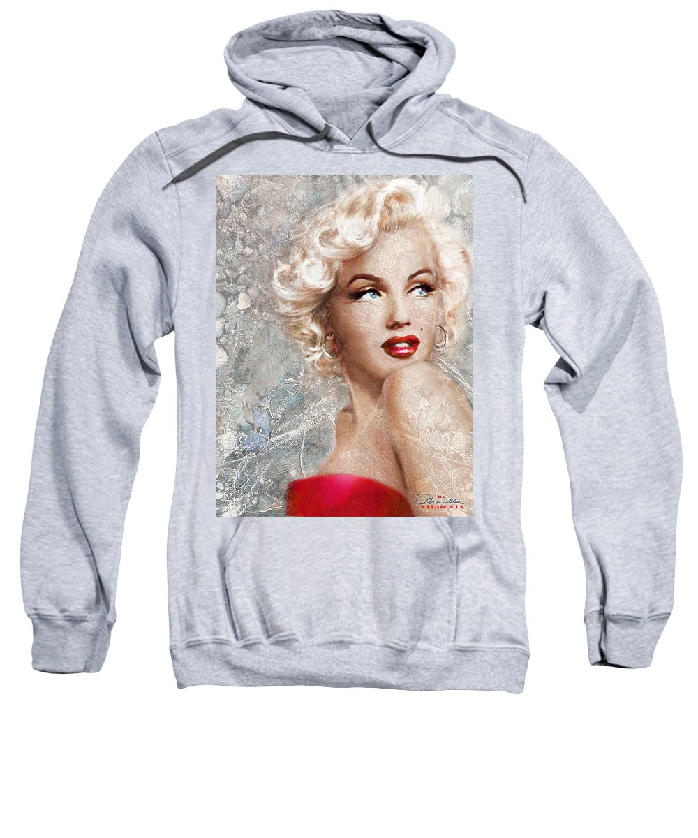 Theo Danella Sweatshirt featuring the painting Marilyn Danella Ice by Theo Danella