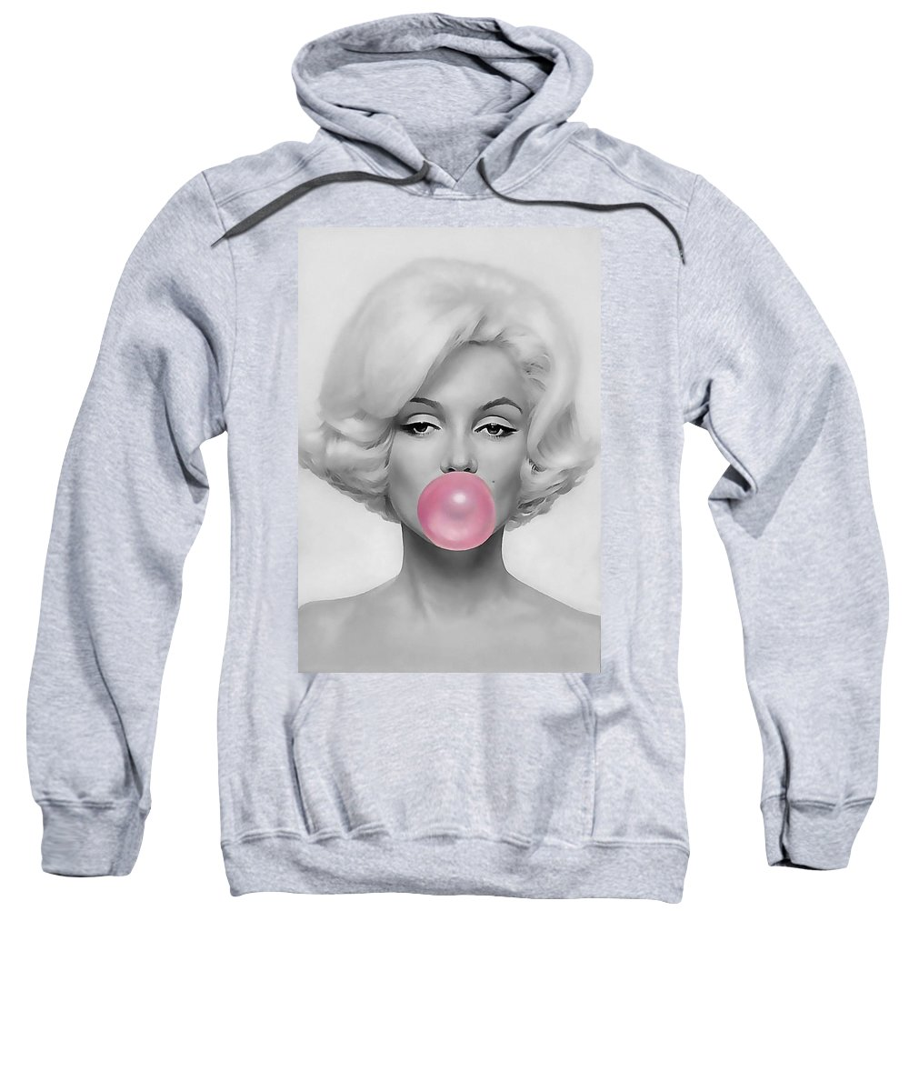 Marilyn Monroe Sweatshirt featuring the mixed media Marilyn Monroe Art by Marvin Blaine
