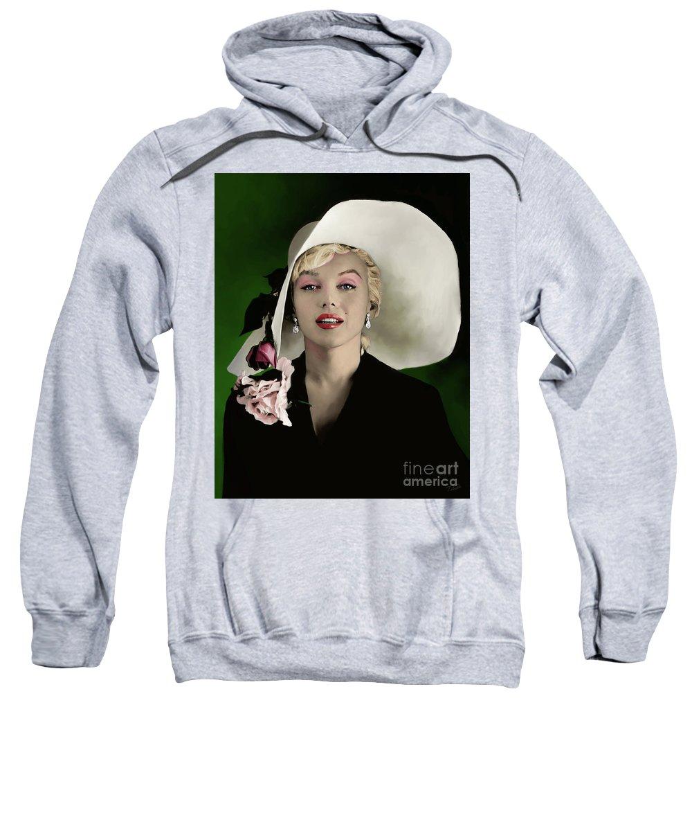 Marilyn Sweatshirt featuring the painting Marilyn Monroe by Paul Tag