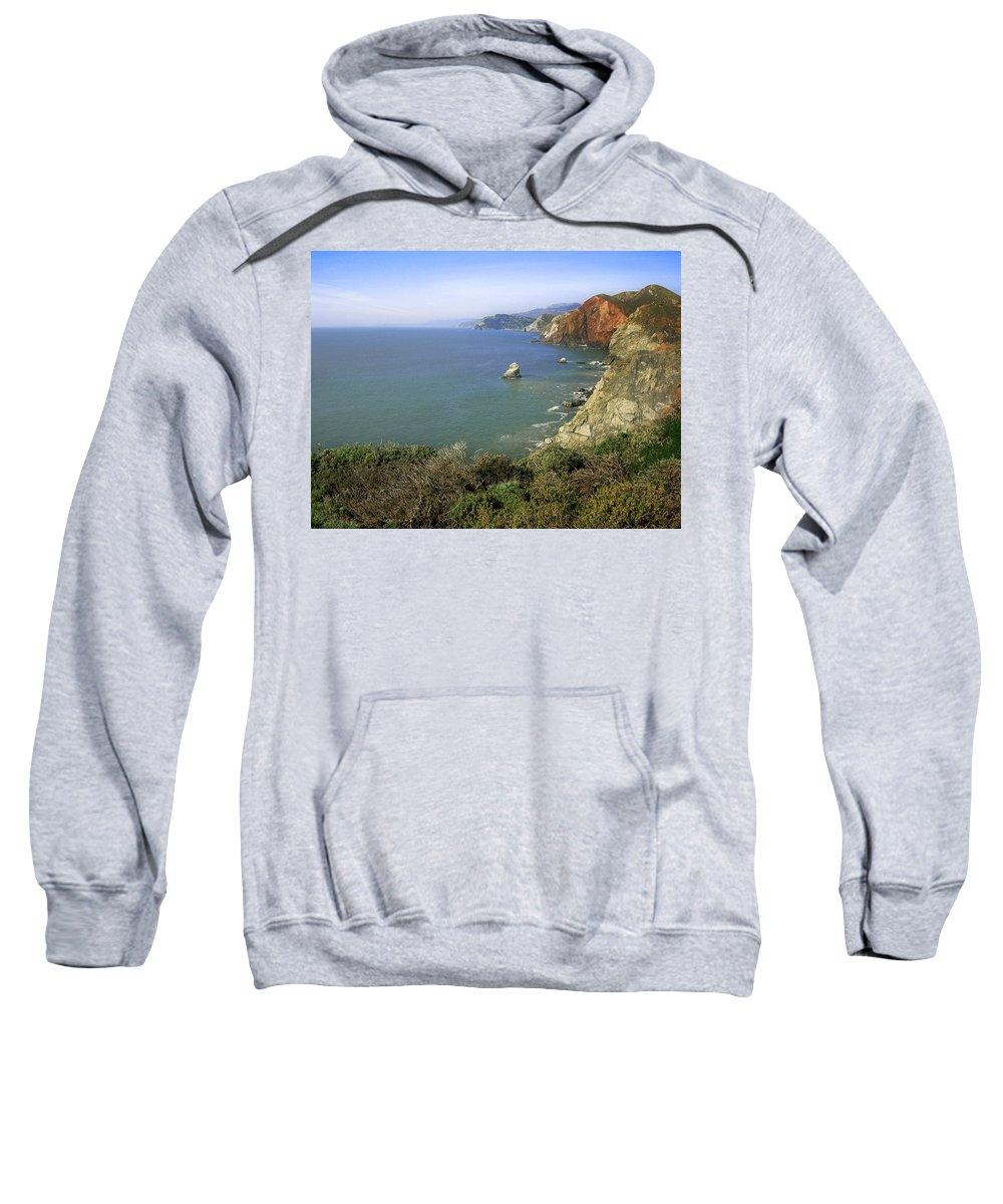 Ocean Sweatshirt featuring the photograph Marin Headlands 1 by Karen W Meyer