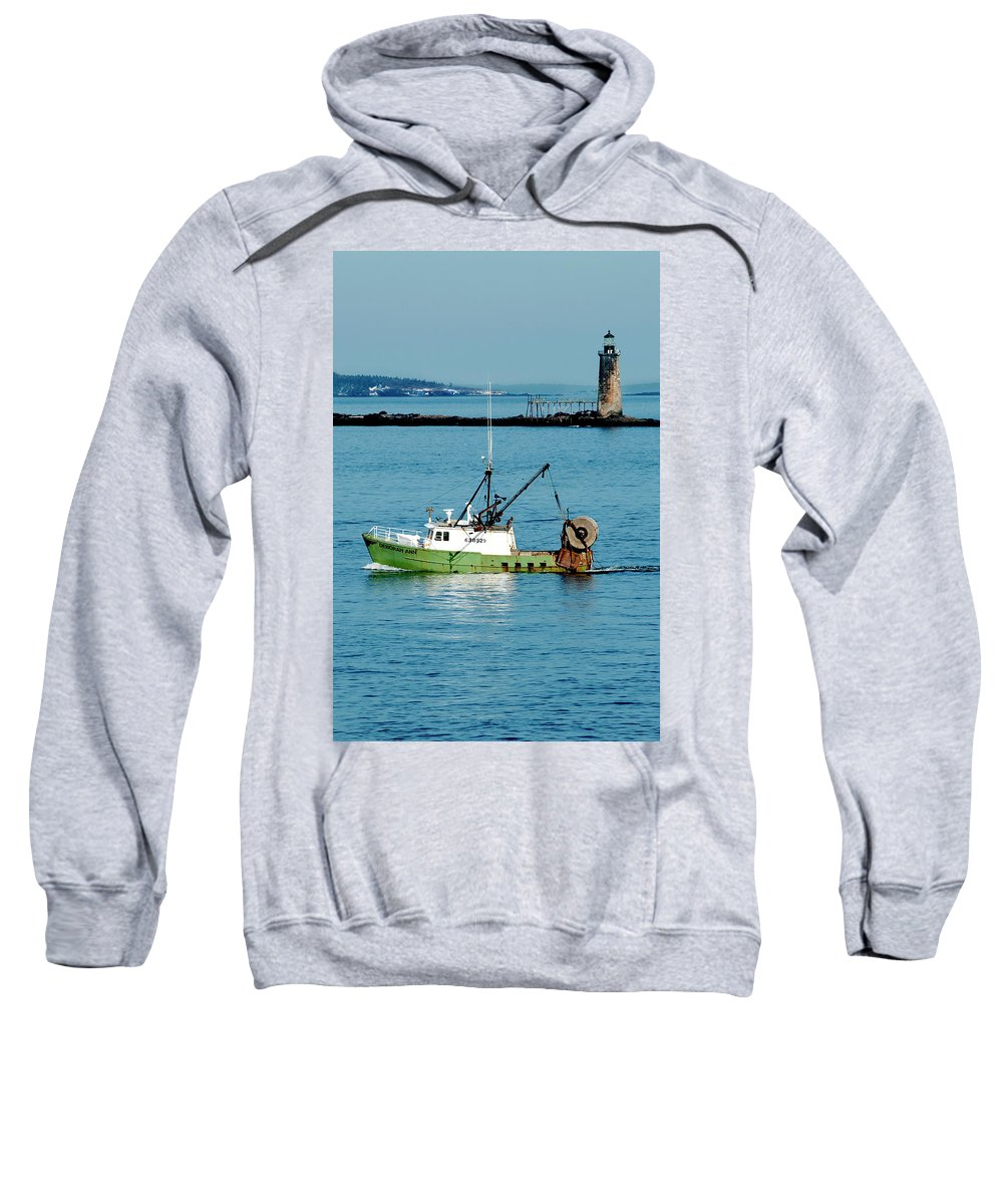 Coast Sweatshirt featuring the photograph Maritime by Greg Fortier