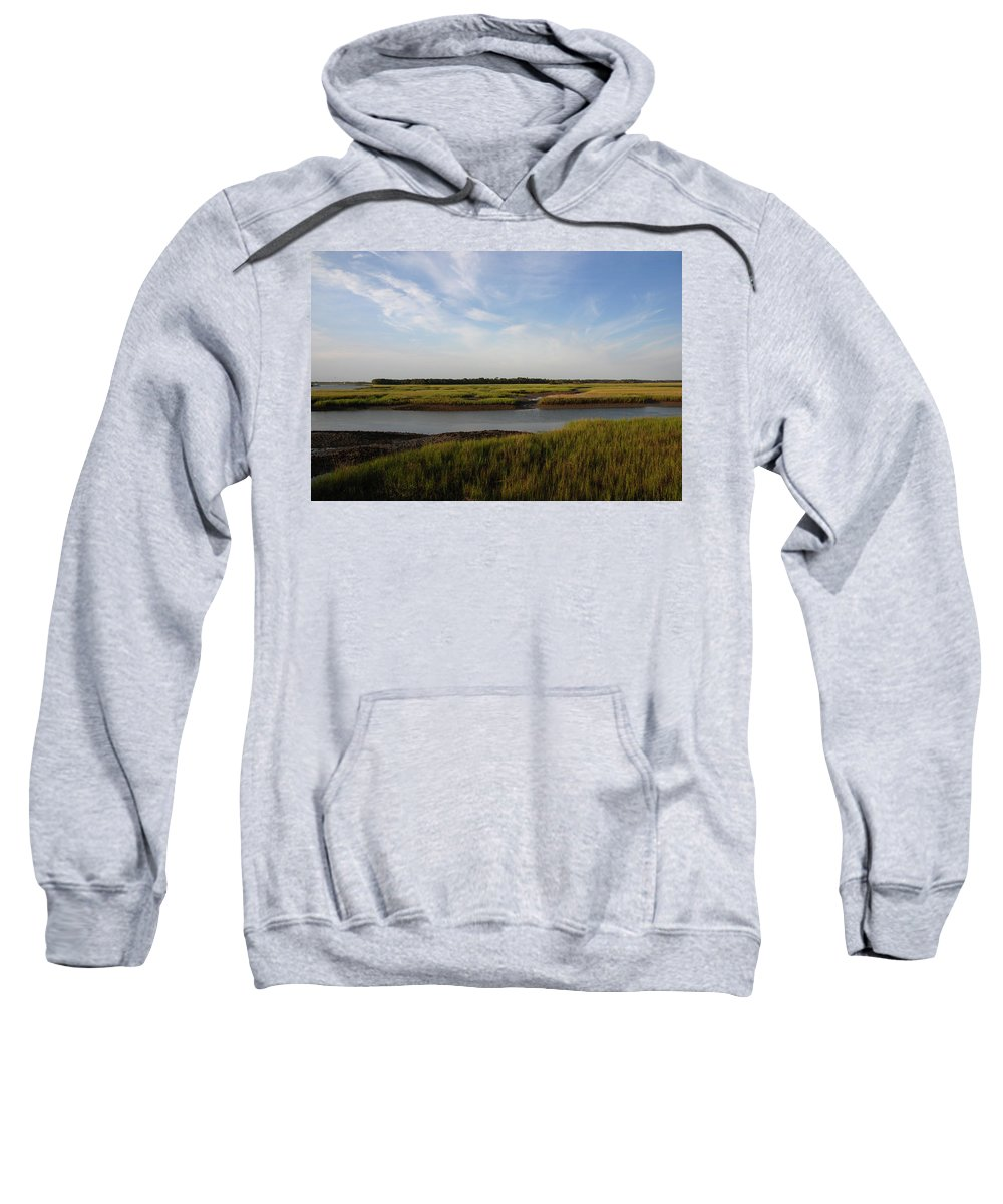 Photography Sweatshirt featuring the photograph Marsh Scene Charleston Sc by Susanne Van Hulst