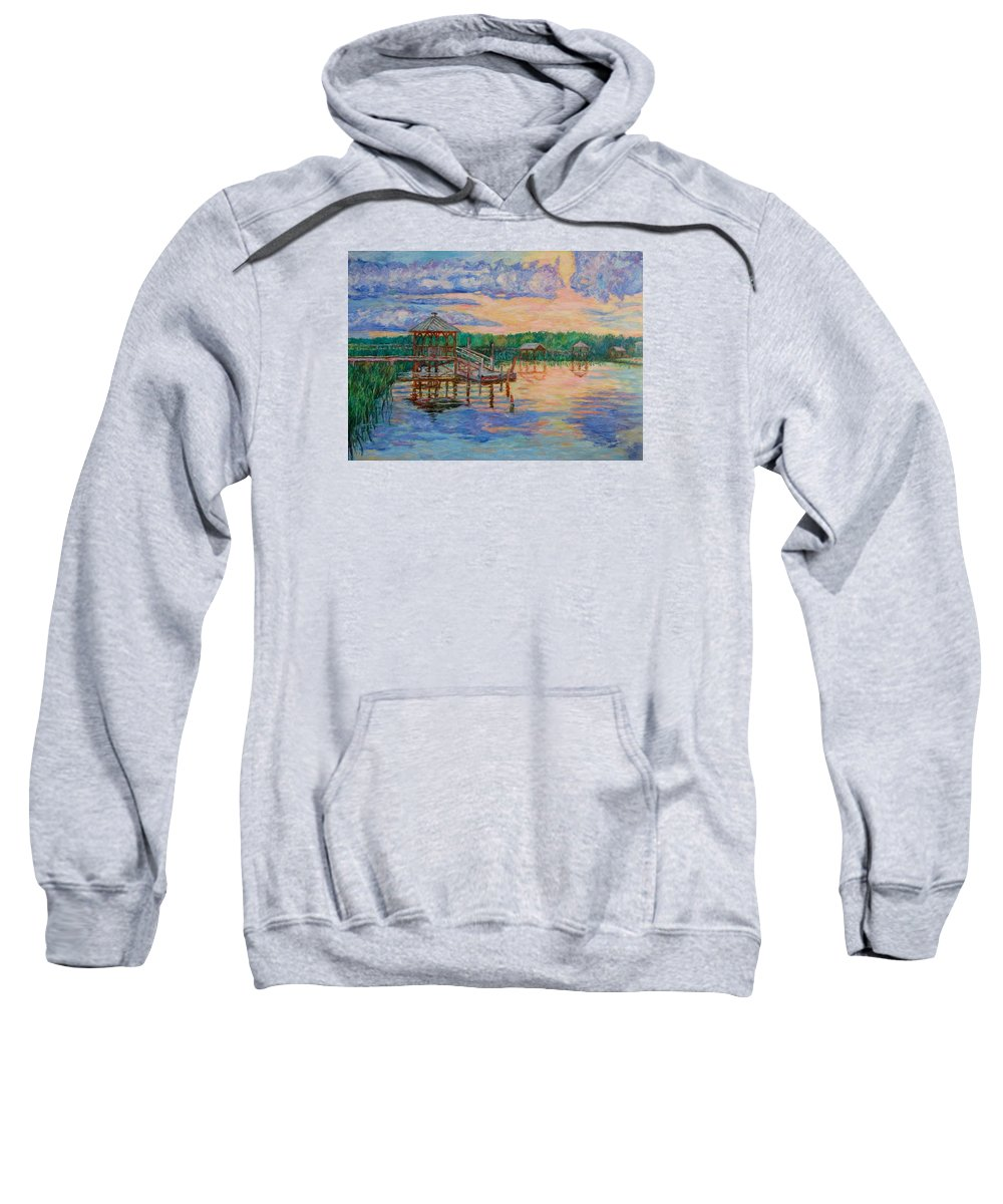Landscape Sweatshirt featuring the painting Marsh View At Pawleys Island by Kendall Kessler