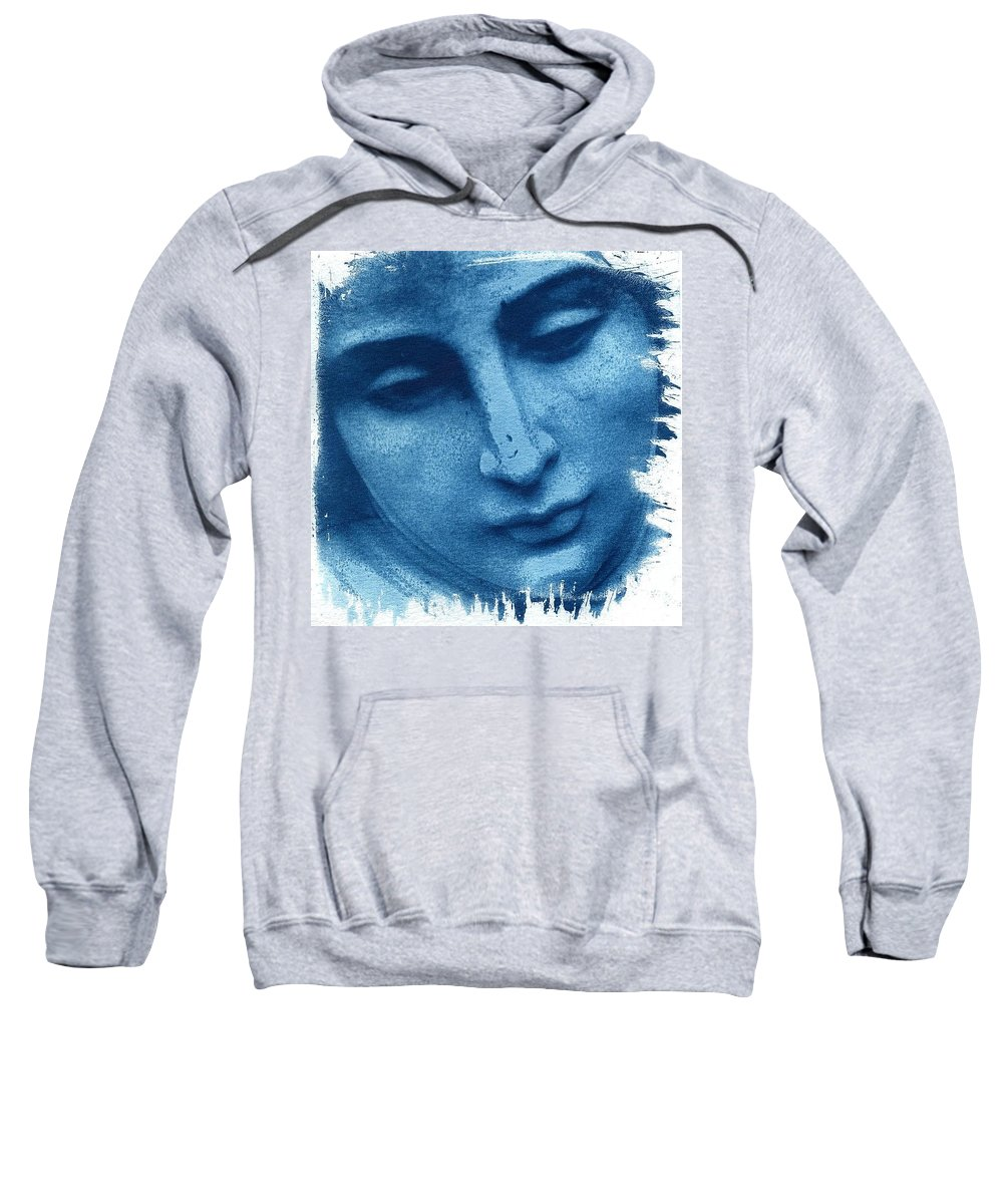 Blue Sweatshirt featuring the photograph Marys Blues by Jane Linders