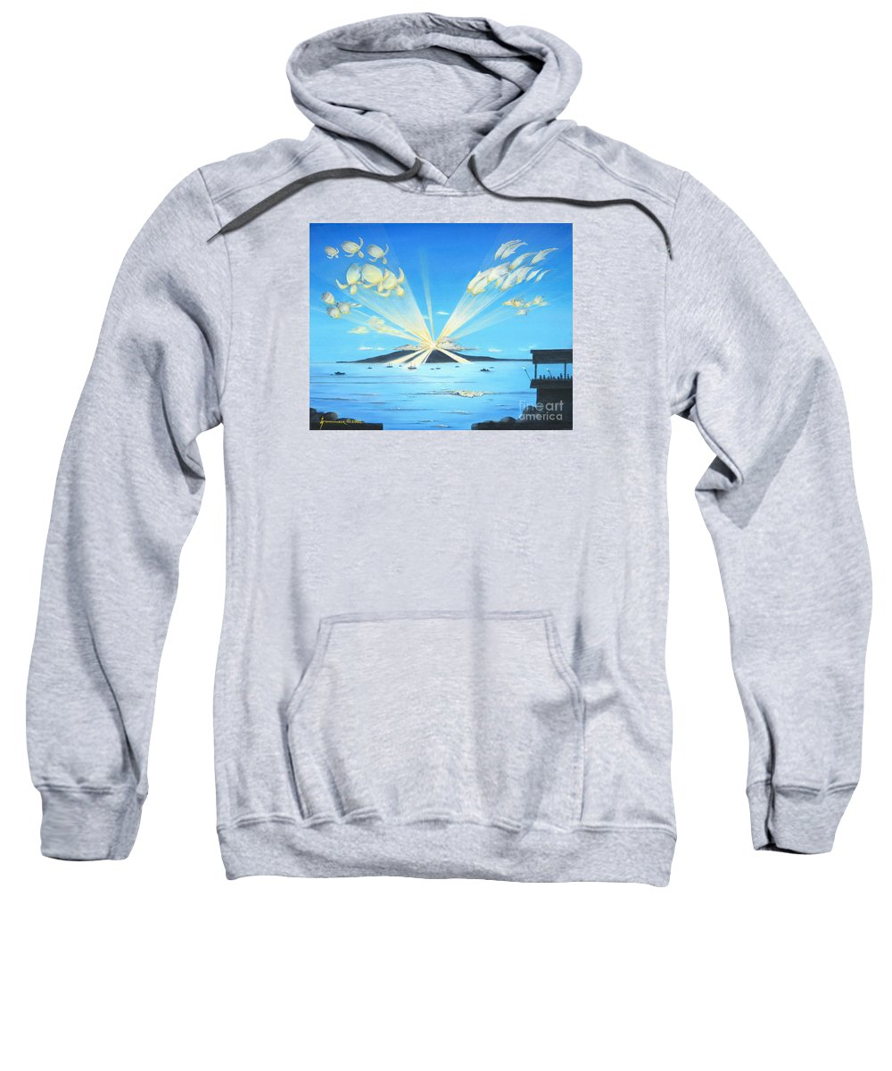 Maui Sweatshirt featuring the painting Maui Magic by Jerome Stumphauzer
